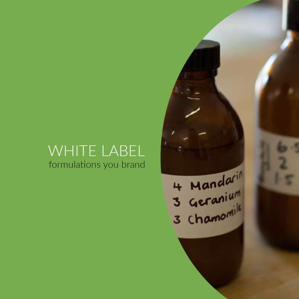 WHITE LABEL SERVICES WITH FORMULATIONS FOR YOU TO BRAND YOUR OWN